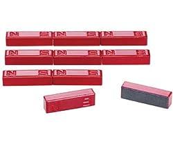 Betzold 85569 - Stab-Magnete, 10 Stück Ferrit -Magnete Nord-Süd-Kennzeichnung - Experimente Physik-Unterricht Schule