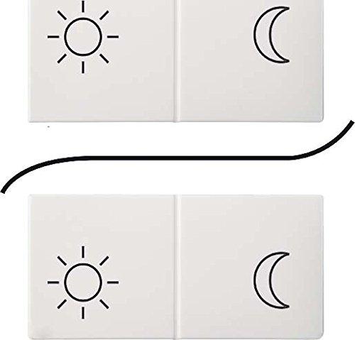 Elso Tastfläche Bedruckung Sonne Mond 1/2, perlweiß, 776890