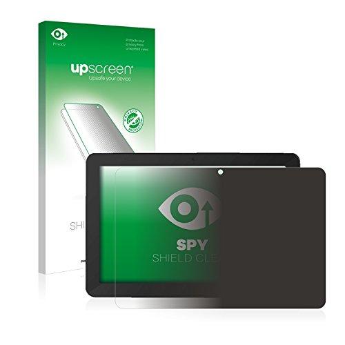 upscreen Anti-Spy Blickschutzfolie für TrekStor SurfTab breeze 10.1 quad Plus Privacy Screen Bildschirmschutzfolie - Sichtschutz, Kratzfest
