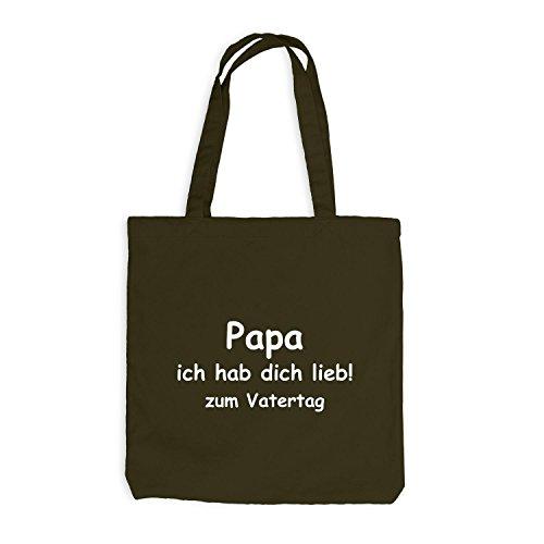 Jutebeutel - Papa - Ich habe dich lieb zum Vatertag - Dads day Olive