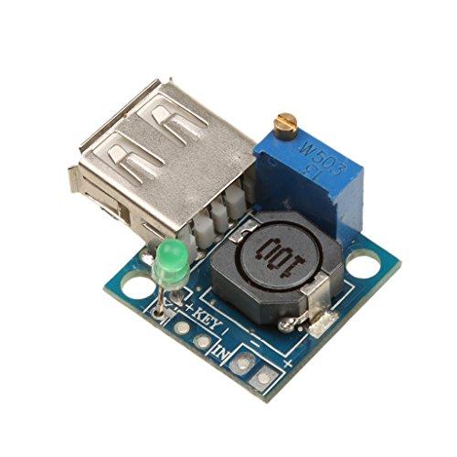 MagiDeal 12V to 5V 3A USB DC-DC Buck Converter Step Down Module Power Board -