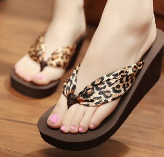 Traders 5, 4.5 : 2017 bohemian women shoes beach slippers high-heeled satin sandals flip flops zapatos mujer s230