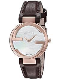 Gucci INTERLOCKING–Reloj de pulsera analógico para mujer cuarzo piel ya133516