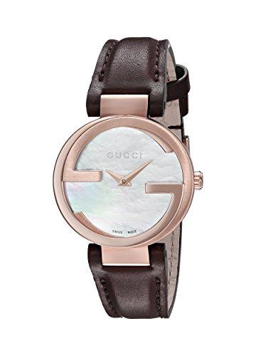 Gucci YA133516 Montre Bracelet Femme Cuir Marron