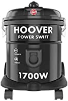 Hoover Power Swift Tank Vacuum Cleaner Black  HT85-T0-ME,1700W, 1 Year Warranty