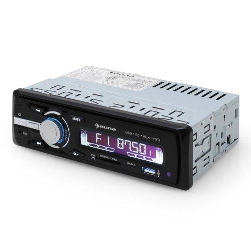 auna MD-120 Autoradio MP3 Autoradio (MP3-fähige USB- und SD-Slots, effiziente MP3-Ordnernavigation, AUX-Eingang, MOSFET-Verstärker mit 4 x 75W, LCD-Display, Fernbedienung) schwarz