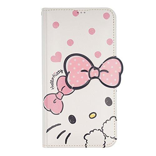 WiLLBee Galaxy S9Plus Case Süße Hello Kitty Tagebuch Wallet Flip Synthetisches Leder/Stoßdämpfung/Trageriemen im lieferumfang [Samsung Galaxy S9Plus] Cover, Shy White Ribbon Pink (Galaxy S9 Plus)
