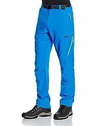 Izas Sander Pantalón de montaña, Hombre, Multicolor (Blueriver/Light Green), XS