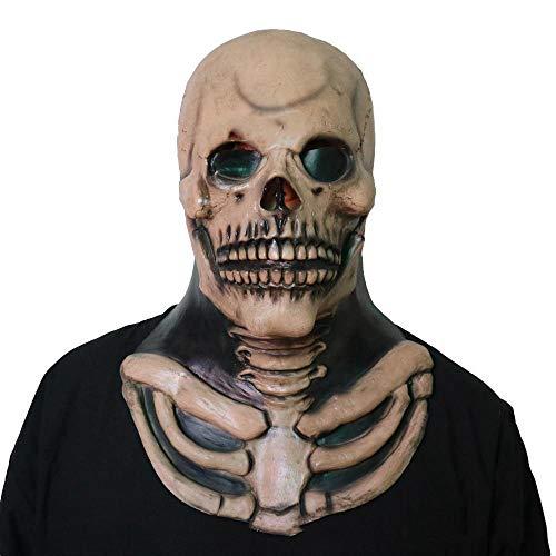 Dämon Schädel Maske Zombie Maske Horror Erwachsenenmaske ()
