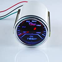 THG 55mm super brillante LED azul Autom¨®vil Racing ahumado aceite digital de temperatura Medidor de temperatura Universal Fit Meter Car Auto Motor SUV Camiones