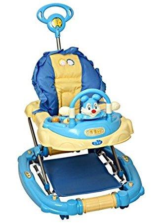 Musical Baby Walker Cum Rocker With Toy Rabbit Blue - 3290E
