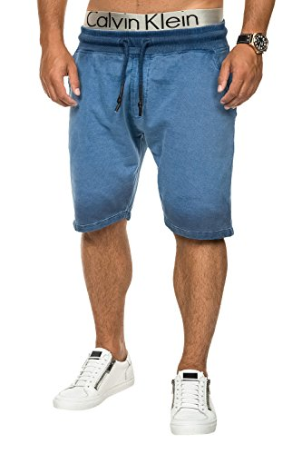 Key Largo Herren Sweat Shorts Bermudas Trainingsshorts Freizeitshorts Aqua Blue
