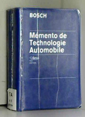 Mémento de technologie automobile par Robert Bosch