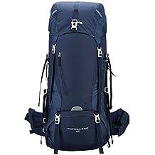 Kimlee 65L Mochilas De Senderismo Al Aire Libre para Viajes Excursiones Acampadas Trekking Impermeable Mochila De