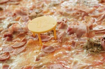 Distanziatore per pizza da asporto, ø 5 cm. , h.