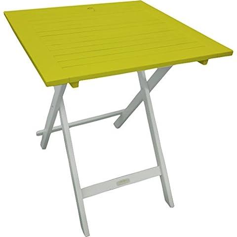 Burano CGBUR63 - Mesa de comedor para exterior (acacia), color verde / anís