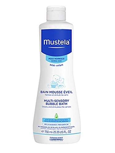 Mustela Multi Sensory Bubble Bath -  Gel de Baño para bebés, 750 ml