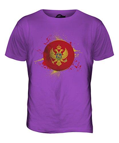 CandyMix Montenegro Fußball Herren T Shirt Violett