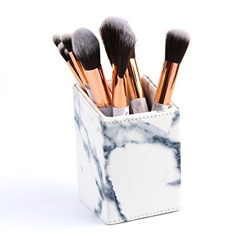 Solike Make Up Pinsel 10 Stück Marmor Muster Design Professionelles Augen Bürsten für Lidschatten...