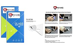 Kronus (Pack Of 2) Tempered Glass Screen Protector For Xolo Prime||2.d D Curved Edged Glass||Reusable Packaging|| Perfect Fit||Oil Coated|