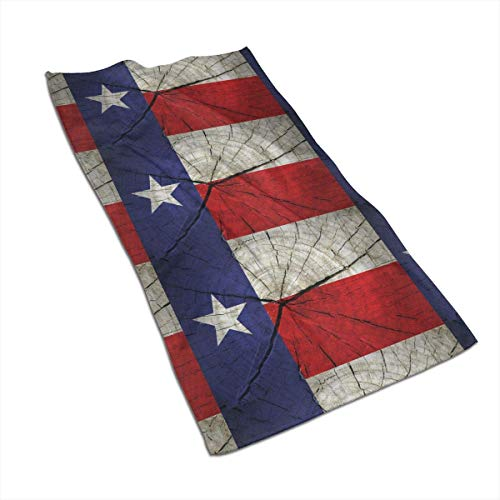 VLOOQ-HX Texas-State-Flag-Painted-on-Wood Toallas de Mano de Fibra extrafina Toalla de Playa Ultra...