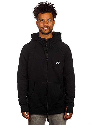 Nike SB Everett Graphic Fz Hoodie–Felpa da uomo, Uomo, Negro/Blanco (Black/White), S Negro/Blanco (Black/White)