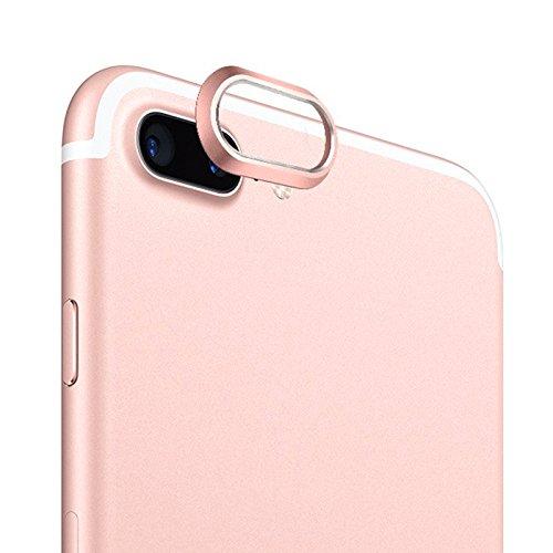 Aubess For iPhone X 7 8 Plus - Carcasa Protectora para cámara Trasera, Metal,...