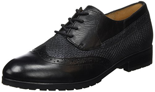 Caprice 23350, Brogue Donna, Nero (Black Comb 019), 37.5 EU