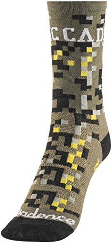 Defeet Aireator Cadence Collection Socken Digital Camo Grün Schuhgröße L | 43-45,5 2018 Fahrradsocken (Grün Camo Socken)