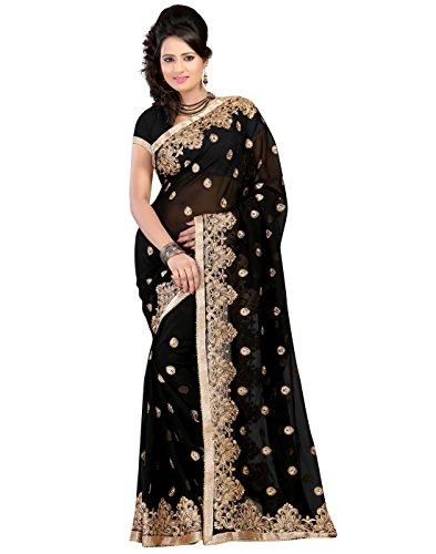 Bunny Sarees Sari (Black)