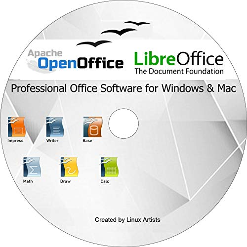 Apache Open Office & Libre Office 2019 Ultima edizione completa per TUTTI Windows e mac | Alternativa a Microsoft Office: compatibile con Word, Excel e PowerPoint