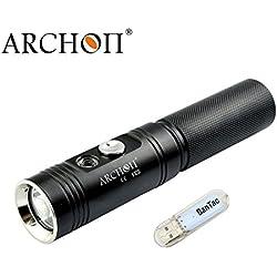 ARCHON V10S plongée lumière 860 lumens/60 metres CREE XM-L2 U2 LED sous l'eau Portable Lampes de plongée Alimenté par Batterie (Piles Non incluses), avec Lampe Bantac