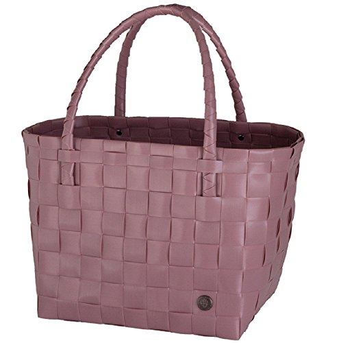 Handed By Handgewebt Paris shopper Tasche, Rosa (Rustic Pink), 27 x 31 x 24 cm - Paris, Tag, Tasche