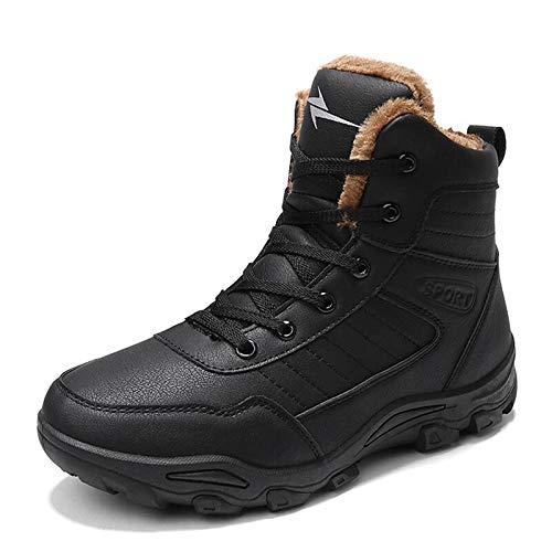 FHCGMX Hommes Bottes d'hiver avec Bottes De Neige Chaudes Hommes Bottes d'hiver Chaussures De Travail Hommes Chaussures Mode Bottes en Caoutchouc 39-46