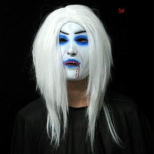 Qbisolo Horror Halloweenmaske, für Erwachsene, Latex, Cosplay-Kostüm, Zombie-Maske