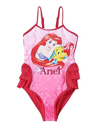 Ariel la petite sirène Mädchen Badeanzug Gr. 2 Jahre, Rose foncé (Ariel Badeanzug)