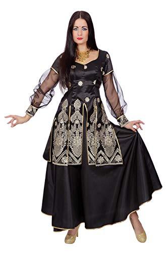 W4017-40 schwarz Damen Orient Kostüm Bollywood Prinzessin Gr.40