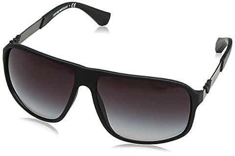 Armani Unisex Sonnenbrille EA4029, , , , , Gr. X-Large (Herstellergröße: 64), Schwarz (black rubber 50638G)