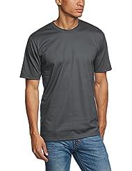 Trigema T-Shirt Deluxe - Camiseta / Camisa deportivas para hombre, color gris, talla 3XL