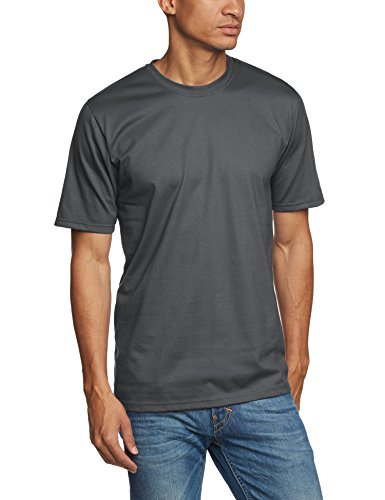 Trigema Herren T-Shirt 637202_018, Gr. Small, anthrazit