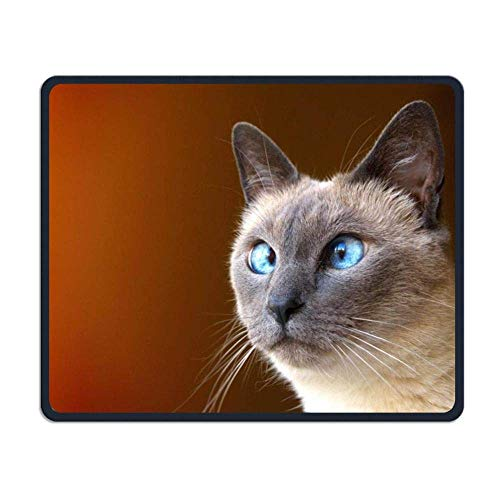Cross-Eye Cat Gaming Mouse Pad Custom Design Non-Slip Rubber Mouse Mat for Desk,Laptop
