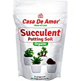 Casa De Amor Succulents Potting Soil 100% Organic Special Research Based Formula for All Succulent Plants in 2 Kg