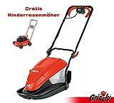 Grizzly Elektro Luftkissen Mulchmäher ERM 1500 33 LF Mulcher Mulchmäher Einfach zu schiebendes Gerät für Abhänge