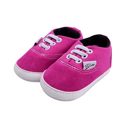 Unisex Baby Sneakers, OverDose Neugeborene Säuglingsbaby Mädchen-Jungen-Krippe schuhe Weiche alleinige Anti Rutsch Turnschuh Segeltuch Schuhe Hot Pink