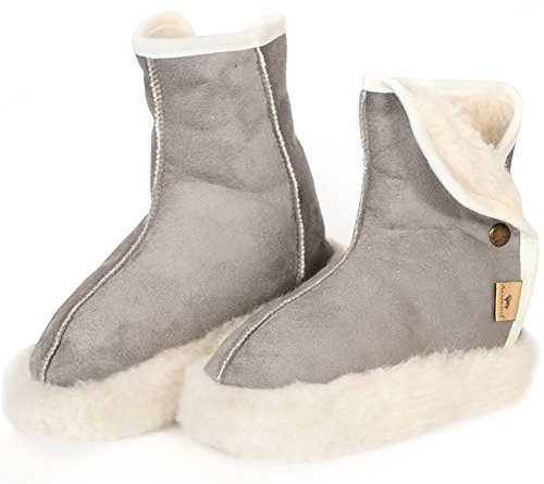 alwero woolnite chaud chaussons coton - Gris