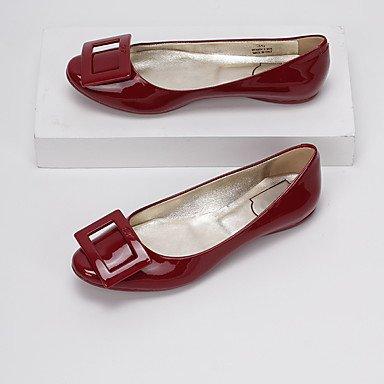 Confortevole ed elegante piatto scarpe donna Appartamenti Autunno Inverno Comfort Casual in pelle tacco piatto altri Nero Rosso mandorla altri Red