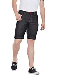 Wear Your Mind Black Cotton Denim Shorts For Men WSR027.2_38