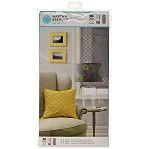 "41oHhgyEAKL. SS300  - Martha Stewart Large Stencils 3 Sheets/Pkg-Arabesque 8.75""X16.75"" 11 Designs"