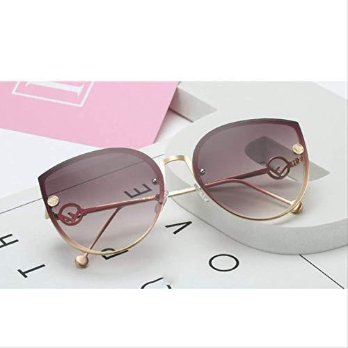 shengbuzailai Frauen-Weinlese-randlose Steigungs-Sonnenbrille A7