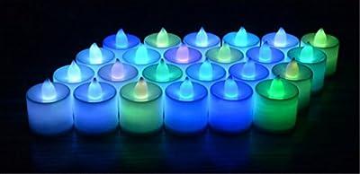 Liroyal 12 x FLICKERING LED TEA LIGHT CANDLES TEALIGHT TEA LIGHTS WITH FREE BATTERIES - inexpensive UK light store.